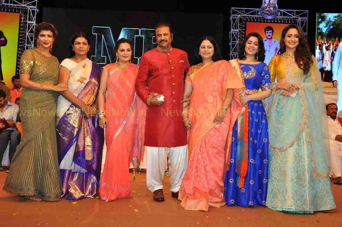 Chiru & Venkatesh@Mohan Babu 40th Year Event