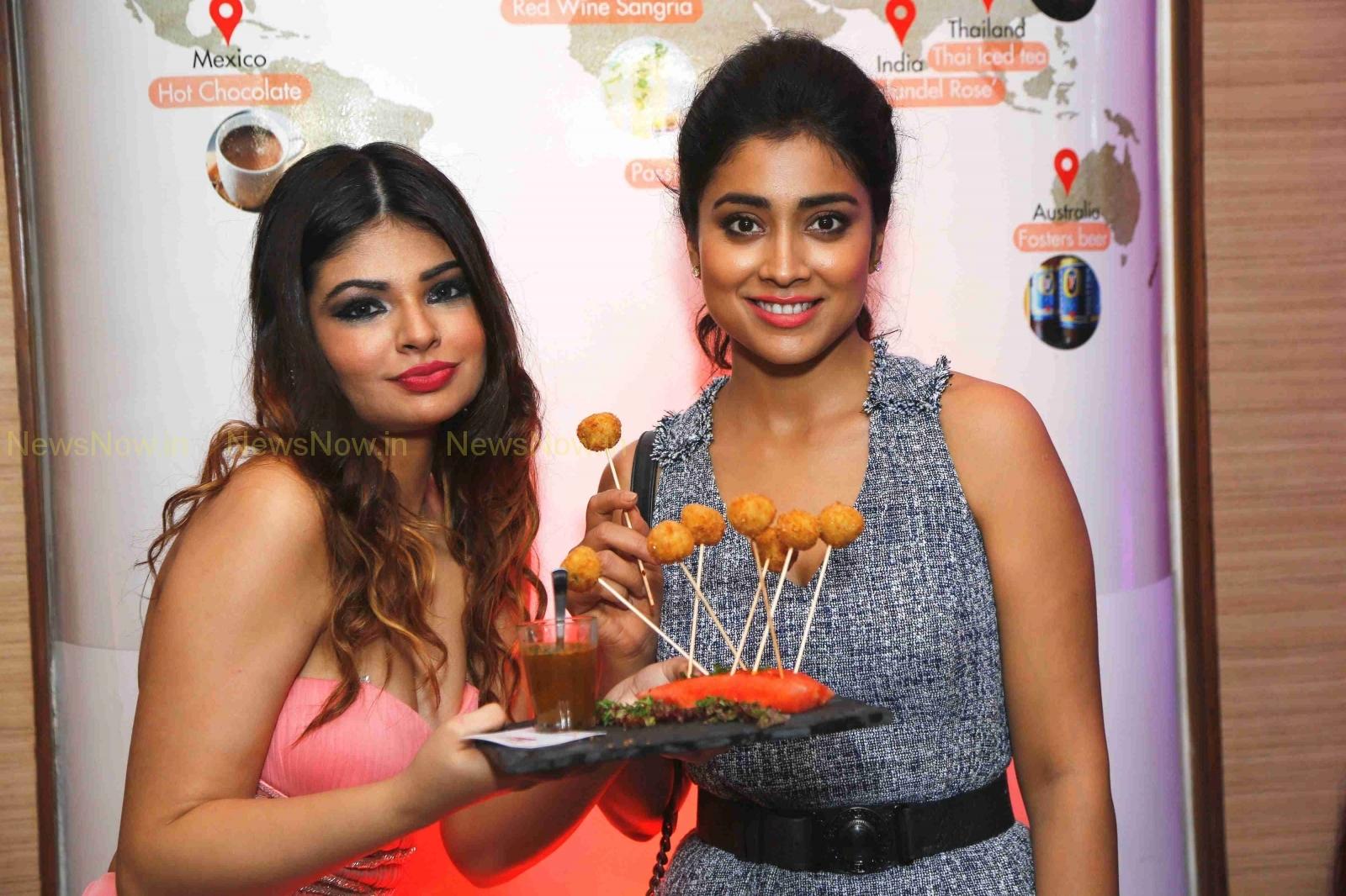 Shriya Saran opens World Streat Food at Nariman Point