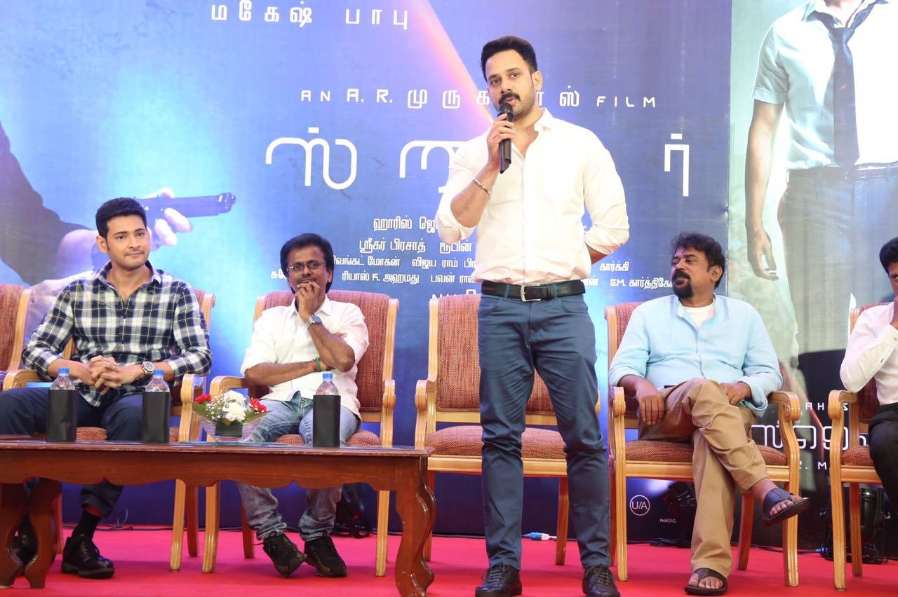 Spyder Movie Press Meet at Chennai